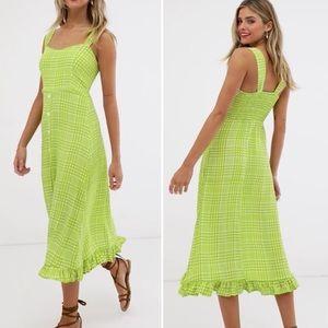 Faithfull the Brand Yasmin Plaid Midi Dress